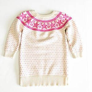 Baby Gap Pink And White Sweater, Size Toddler 4